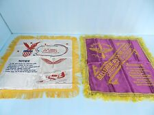 2 ea WWII BELLEVIEW HOTEL&U.S. ARMY AIR CORPS MOTHER CLEARWATER FL PILLOW SHAM