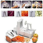 3in1 Fruit Spiral Vegetable Slicer Cutter Chopper Kitchen Raw Food Turner Cutter