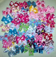 Dog Grooming Bows 50 MED Dog Bows Variety Pack Quality Grosgrain ribbons Poodle