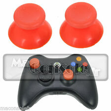 Lot 2 chapeaux de joystick stick pad manette Xbox 360 orange NEUF