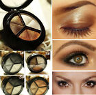 3 Colors Retro Eyeshadow Natural Smoky Cosmetic Eye Shadow Palette Set Make Up