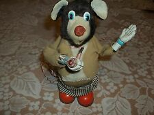 Vintage Battery Toy Bear and Pipe