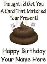 A5 Personalised Greeting Card match prezzie poo  Humour Card PID374 birthday