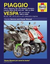 Piaggio and Vespa Scooters (with Carburettor Engines) Service and Repair Manual:
