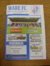 23/11/2013 Ware v Soham Town Rangers  . Thanks for viewing this item, we try and