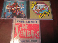 SURFIN CHRISTMAS FROM THE BEACH BOYS - WAVE BENDERS & VENTURES RARE 3 CD SET