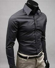 Men's Slim Fit Shirt - Sexy Formal Smart Casual Dress Shirts T-Shirt XS S M L XL