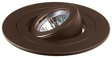 "4"" INCH CAN 12V MR16 RECESSED LIGHT ADJUSTABLE RING GIMBAL TRIM BROWN BRONZE"