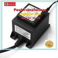 NEW* Waterproof Pool Light Transformer 12V 50VA IP44 Suitable LED Pool Lights