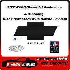 01-06 Chevrolet Avalanche Black Powder Coat Bowtie Grille Emblem AMI 96181K