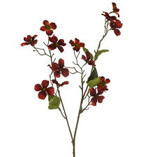 Artificial Dogwood Spray Red 68cm Length - Autumn Colour - Cornus