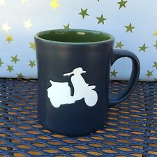 Starbucks 2011 Etched Vespa Scooter Moped Silhouette Collectible Mug 16 oz