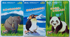 China Used Phone Reload Cards - 3 pcs Animal Series