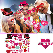 PBPBOX 40 Pieces Valentine's Day Photo Booth Props DIY Creative Kit for Parties