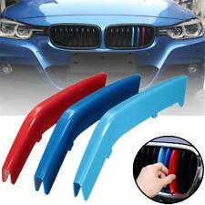 M-Tech 8 Slats Kidney Grille 3 Colour Cover Clips BMW 3 Series F30 F31 2013-2015