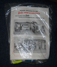 Extremely Rare Mint in Original Packaging 1965 Dream Kitchen-Dinette Accessories