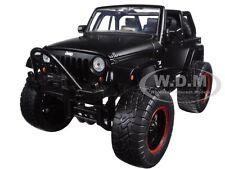 2007 JEEP WRANGLER WITH EXTRA WHEELS MATT BLACK 1/24 MODEL CAR BY JADA 97689
