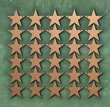 STAR 2 cm Two holes Bunting Laser Cut MDF Craft Blanks Embellishment