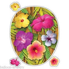 Tropical Luau Tiki Hawaiian HIBISCUS FLOWERS Toilet Topper Decoration