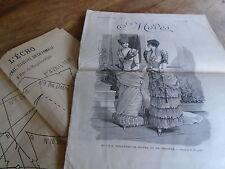 """ANCIENNE PLANCHE  PATRONS """"ECHO DE LA MODE 1883 VETEMENT MAMZ'ELLE NITOUCHE"""