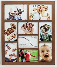 Hampton Frames Gallery 9 Multi Aperture Dark Oak Photo Picture Frame 1232DW9