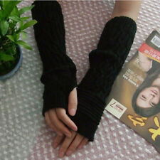 Knitted Gloves Long Arm Glove Warmer Wool Fingerless Ankle Glove Half Sleeves FG