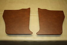 Holden Torana LC-LJ kick panels L & R. Chestnut vinyl. NEW. Incl trim clips.