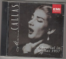 MARIA CALLAS / NICOLA RESCIGNO - in rehearsal dallas 1957 CD