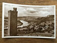 Scottish Postcard BINN TOWER & TAY VALLEY PERTH Perthshire Scotland Real Photo