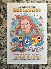 Mac DeMarco Jonathan Richman Greek theater LA may 19 2016 Handbill