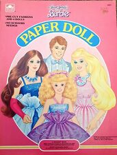Jewel Secret BARBIE Paper Dolls, Whitman 1987, Uncut
