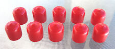 "10 - 1/2"" Red Vinyl Round End Caps Cover .5""  Plastic Rubber Half Inch  Pipe USA"