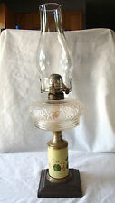 Antique Victorian Hand Painted Oil Lamp - White Flame Light Co. Michigan 221508