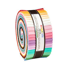 "Kaufman KONA COTTON 30s PALETTE Roll Up 2.5"" Fabric Strips Jelly RU-583-40"