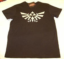 Nintendo Zelda Twilight Princess Logo Mens Black Printed T Shirt Size XXXS New