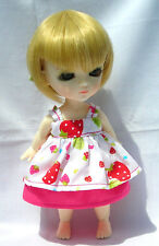 Lati Yellow Doll Outfit Strawberry Print Dress