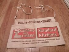 Vintage Standard Supply & Lumber Quality Selection Carpenter Nail Cloth Apron
