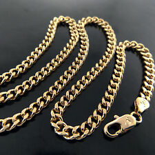 A612 GENUINE REAL 18K YELLOW G/F GOLD SOLID ITALIAN LINK PENDANT NECKLACE CHAIN