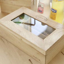 Tea & Coffee Wood storage drawer organizer wooden Tea Box kitchen cabinet small