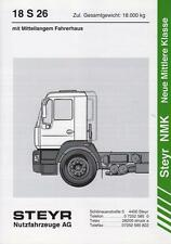 STEYR NMK 18 S 26 1997 SPECIFICATION BROCHURE TECHNISCHE DATEN PROSPEKT