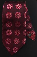 Paul Smith London Rose Lining Thick Pinwheel Design 100% Woven Silk Tie Italy