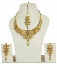 10008 Indian Bollywood Designer Fashion Necklace Lct Stone Bridal Jewelry Set