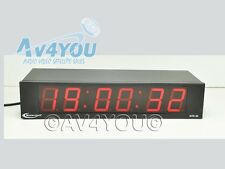 Masterclock NTD-26 Network Time Display Clock NTD26 Studio - Red Display