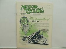 July 1953 The Motorcycling Magazine AJS Matchless Clubman Norton Renold L8296