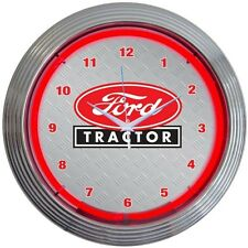 """Ford Tractor Licensed Neon Clock 15""""x15"""""""