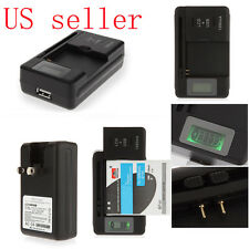 Mobile Universal Battery Charger LCD Indicator For Cell Phones Camera USB Out