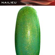 "PROFESIONAL UV Gel de color GLITTERGEL ""NAIL1EU Magigreen"" 5ml/ Gel de uñas"