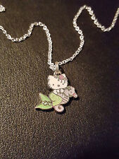 Hello Kitty Mermaid on her Sea Horse Detailed Dainty Small Detailed Necklace