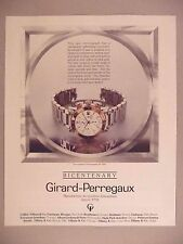 Girard-Perregaux Bicentenary Watch PRINT AD - 1991 ~ wristwatch