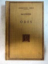 Escriptors Grecs,Odes,Baquilides,F.Bernat Metge 1962